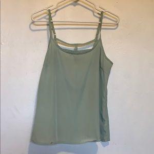 Green cami top